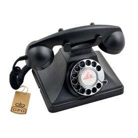 GPO 200 Draaischijf Retro Telefoon Zwart