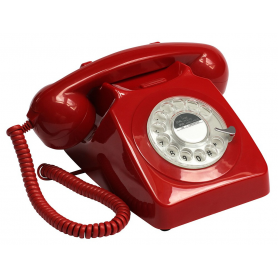 GPO 746 Draaischijf Retro Telefoon Rood