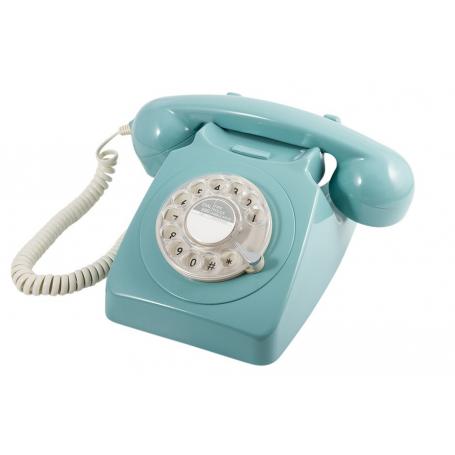 GPO 746 Draaischijf Retro Telefoon Blauw