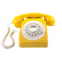 GPO 746 Draaischijf Retro Telefoon Mosterd
