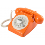 GPO 746 Draaischijf Retro Telefoon Oranje