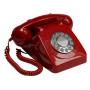GPO 746 Druktoets Retro Telefoon Rood