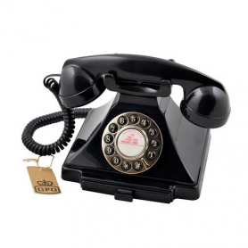 GPO Carrington Retro Telefoon Zwart
