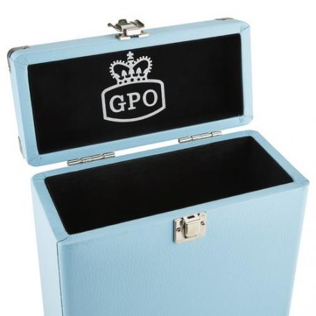 GPO Platenkoffer voor Singletjes Blauw