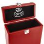 GPO Platenkoffer voor Singletjes Rood