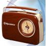 Roadstar tra1957WD Vintage Draagbare Radio bruin