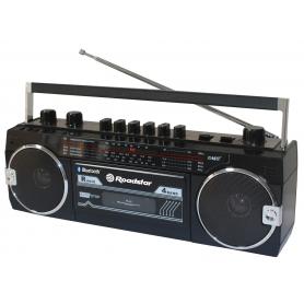 Roadstar RCR-3025EBT/BK FM retro radio met cassettespeler