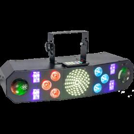 4-IN-1 LED LICHT EFFECT WASH - MOON - STROBE - UV WITH DMX