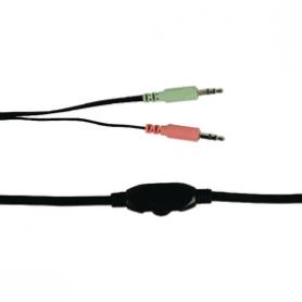 Headset On-Ear 2x 3.5 mm Ingebouwde Microfoon 2.0 m Blauw   BXL-HEADSET1BU