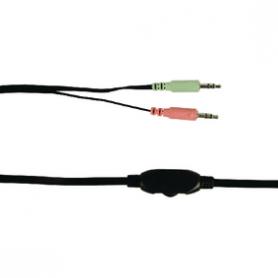 Headset On-Ear 2x 3.5 mm Ingebouwde Microfoon 2.0 m Groen   BXL-HEADSET1GR