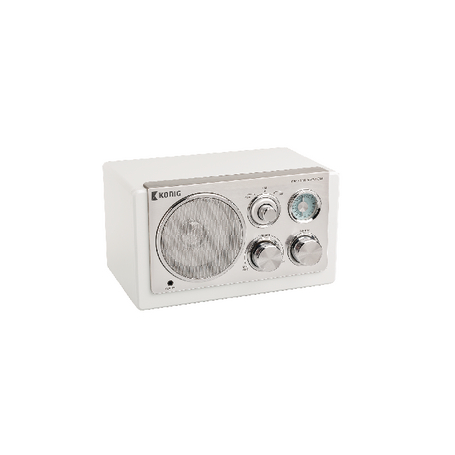 Tafelradio Retro FM / AM 3 W Wit   HAV-TR1200