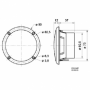 Inbouw Speaker   VS-FR8WP/4B