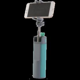 Bluetooth Multifunctionele Luidspreker + Selfie Stick blauw