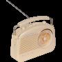 Madison draagbare retroradio met bluetooth en FM - 30 Watt | Beige