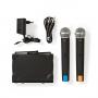 Nedis Draadloze Microfoonset   2-Kanaals   2 Microfoons Meegeleverd   Gebruiksduur Batterij tot 6 Uur
