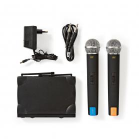 Nedis Draadloze Microfoonset | 2-Kanaals | 2 Microfoons Meegeleverd | Gebruiksduur Batterij tot 6 Uur