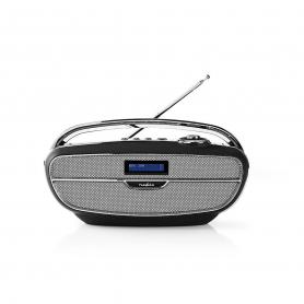 Nedis Digitale DAB+ radio | 60 W | FM | Bluetooth® | Zwart / zilver