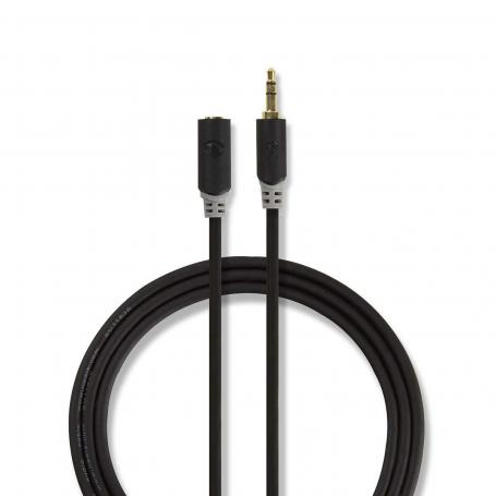 Nedis Stereo audiokabel | 3,5 mm male - 3,5 mm female | 10 m | Antraciet