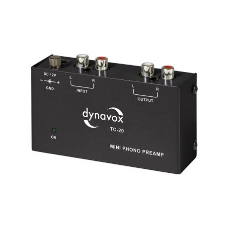 Audio Dynavox - Dynavox phono voorversterker TC20 zwart