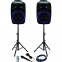 Ibiza Sound geluidset met USB/SD player + BT