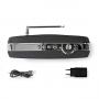 Nedis FM-radio | 60 W | Bluetooth® | Zwart / zilver