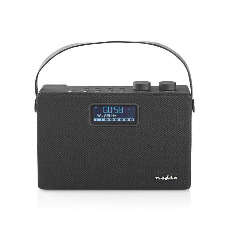 Nedis Digitale DAB+ radio | 15 W | FM | Bluetooth® | Zwart / zwart