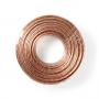 Speaker-Kabel | 2 x 4,00 mm2 | 25 m op rol | Transparant