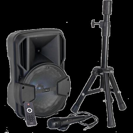 Ibiza Audio - LICHT & GELUID 15-6135PLS Actieve luidspreker 8 - LED, Bluetooth, USB