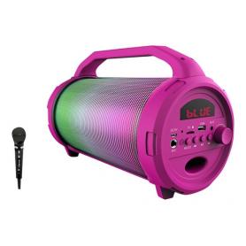 iDance CYCLONE400PK Bluetooth USB Speaker met Disco LED-Verlichting - Roze
