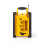 Nedis FM-Bouwradio | 15 W | Bluetooth® | IPX5 | Handvat | Geel / Zwart
