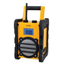 Denver WR-40 Bouwradio met FM met batterij of 230V Geel