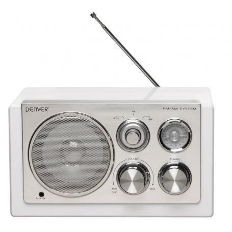 Denver TR-61 wit - Retro radio