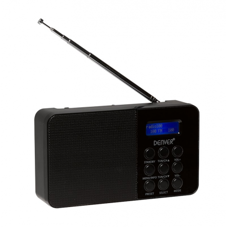 Denver DAB-33 zwart - DAB+ radio