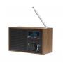 Denver DAB-46 donkergrijs, retro FM radio
