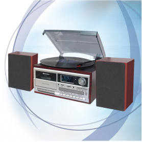 Roadstar HIF-8892D+BT DAB radio met platen-, cassette- en CDspeler