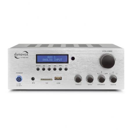 Audio Dynavox - stereo versterker VT80MK zilver