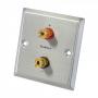 Audio Dynavox LS wandplaat metaal - 2 voudig