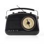 Nedis Retro AM/FM radio / zwart