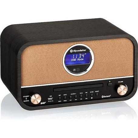 Roadstar HRA-1782D+BT zwart | DAB+ Retro Radio en CD Speler