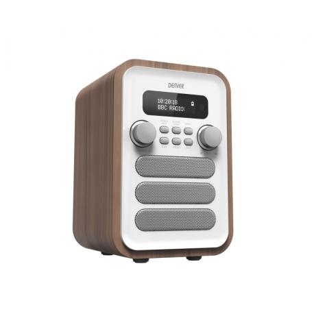 Denver DAB-48 wit - DAB+ radio met Bluetooth