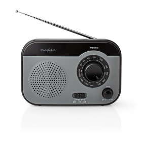 FM-Radio Nedis Draagbaar Model | AM / FM | Grijs/Zwart