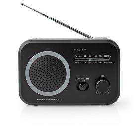 FM-Radio Nedis Draagbaar Model | AM / FM | Zwart/Wit