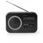 FM-Radio Nedis Draagbaar Model   AM / FM   Zwart/Wit
