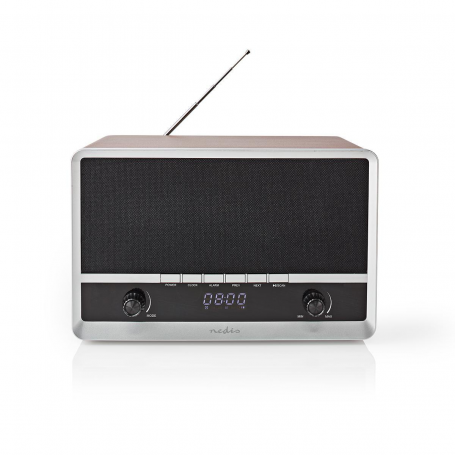 FM-radio Tafelmodel | AM / FM | 12 W | Bluetooth® | Wekker | Bruin/Zwart