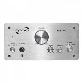 Audio Dynavox miniversterker MT50 50W zilver