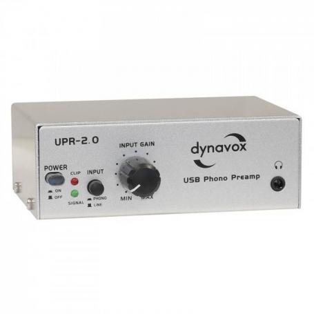 Audio Dynavox Dynavox Phono voorversterker usb UPR 2.0  zilver