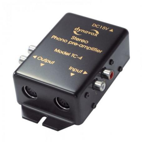 Audio Dynavox  Dynavox phono voorversterker TC4 zwart