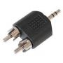 3.5mm stereo verloop plug naar 2x cinch