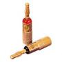 Audio Dynavox Banaanstekker rood (klemcilinder)