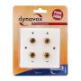 Audio Dynavox LS wandplaat wit - 4 voudig